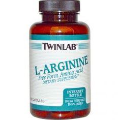 Twinlab, L-Arginine, 120 Capsules, Diet Suplements 蛇