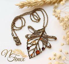 Brass Pendant 'Dragonfly' | Латунный кулон «Стрекоза» — Купить, заказать, кулон, серебро, стрекоза, латунь, ручная работа