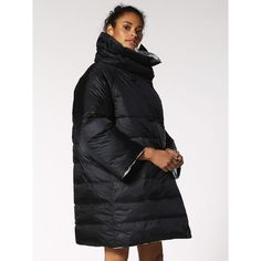 Diesel W-DESIR Winter Jackets (£185) ❤ liked on Polyvore featuring outerwear, jackets, black, winter jackets, women, reversible jacket, pocket jacket, wind proof jacket, puffy jacket and shiny puffer jacket