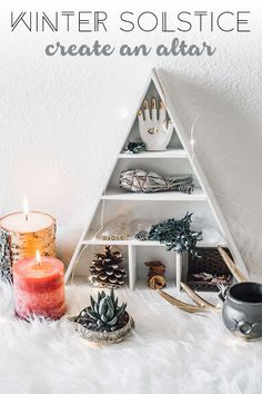 Ways to Bring Meaning to the Winter Solstice Winter Solstice-Create an Altar// Zenned Out // Winter Solstice-Create an Altar// Zenned Out // Wicca Altar, Sun Jar, Alphabet Poster, Wiccan Decor, Hobbies To Try, Cheap Hobbies, Altar Decorations, Witch Aesthetic, Book Of Shadows