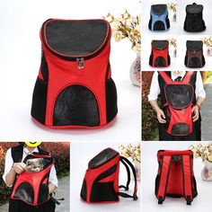 8236c1325a7 $13.6 - Pet Carrier Backpack Small Dog Cat Travel Holder Carry Pouch Bag  Front Back #