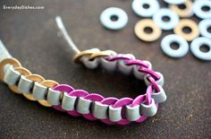 Accessorize your outfit with a leather washer bracelet that's super cute and only costs a few bucks.