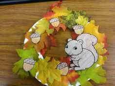Fall wreath.  I make them in storytime