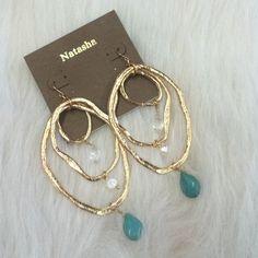 "Selling this ""LISTING Gold Drop Earrings"" in my Poshmark closet! My username is: cindyciara. #shopmycloset #poshmark #fashion #shopping #style #forsale #natasha #Jewelry"