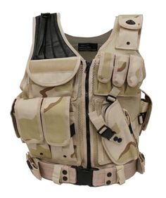 Airsoft Tactical Vest Desert Camo