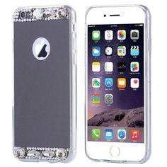 KISSCASE Luxury Diamond Mirror TPU Case For iPhone 7 6 6s Plus 5 5s SE Samsung Galaxy S7 S6 Edge Slim Soft Silicone Rubber Cover