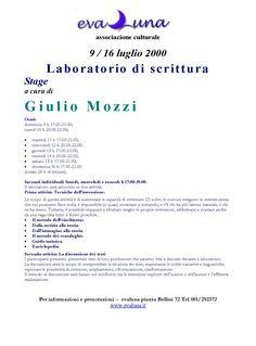 2000 07 09  LABORATORIO DI SCRITTURA  CON GIULIO MOZZI
