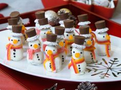 No-Bake Cookie Dough Snowmen