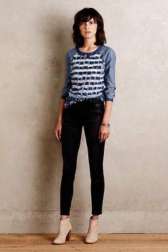 J Brand Alana Coated Jeans - anthropologie.com