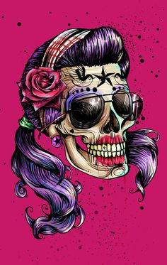 Hilarious Mexican Divine Skull Art Print by Leonardo Paciarotti Di Maggio Los Muertos Tattoo, Catrina Tattoo, Posca Art, Sugar Skull Art, Sugar Skulls, Skull Artwork, Day Of The Dead Skull, Desenho Tattoo, Candy Skulls