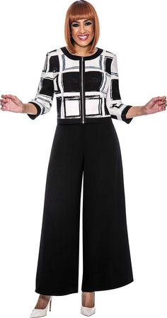 Dorinda Clark ColeThe Rose CollectionBlack / White Sizes 10-24W