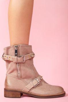 Adele Spike Boot - Taupe Nubuck