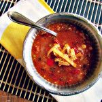 Vegan Spicy Tortilla Soup