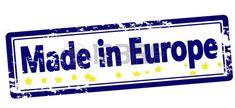 Sello con texto hecho en Europa dentro, ilustración vectorial