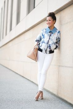 Almost Sporty :: Organza bomber jacket