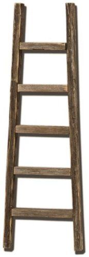 Rustic Barnwood Decorative 4` Ladder Extremely Primitive! THIS IS NOT NEW WOOD! - List price: $39.95 Price: $29.95 Saving: $10.00 (25%)