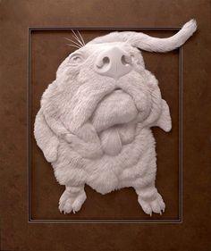 Astounding Animal Sculptures Made From Cut Layers of Paper http://designwrld.com/paper-animal-sculptures-calvin-nicholls/