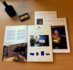 Royal Notes and #Forceone!  Our page in the #magazine of #Monaco and the #Frenchriviera.  #September #design #luxury #Royalnotes #Royalnotesdesign
