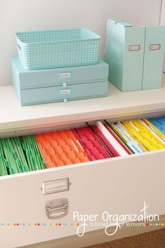 Manilla file folders have nothing on this pristine color-coded set.