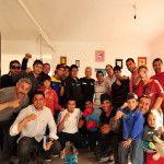 """Invitado por el vicegobernador Dalmacio Mera, Juan Martín Látigo Coggi recorrió varios gimnasios de boxeo, donde brindó una serie de clínicas para los apasionados del deporte de los puños. """"Yo me propuse a los 12 años ser campeón"""