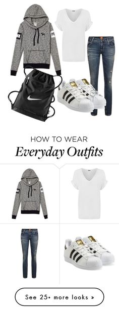 Cute casual everyday outfit by femgaymer1204 on Polyvore featuring adidas Originals, WearAll and NIKE