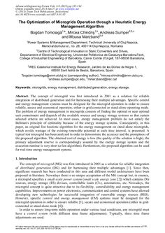 The Optimization of Microgrids Operation through a Heuristic Energy Management Algorithm