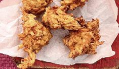 Nadiya Hussain& recipe for Curry, Carrot and Parsnip Bhajis with Chutney, as seen on Nadiya& British Food Adventure, is an easy vegetarian starter. Indian Food Recipes, Veggie Recipes, Vegetarian Recipes, Veggie Meals, Indian Snacks, Vegetarian Cooking, Healthy Meals, Diet Recipes, Chicken Recipes