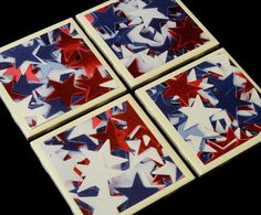 Coasters Tile Coasters Drink Coasters 4th of July by KimLKrafts