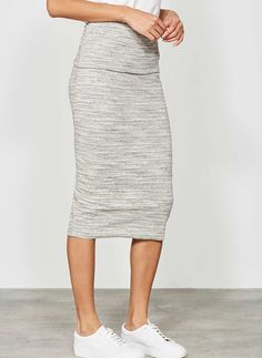 Grey Space Dye Tube Skirt