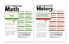Classical Conversations Cycle 2 quiz cards for history and math.  Adds intensity for the Masters or those who've done cycle 2 before.