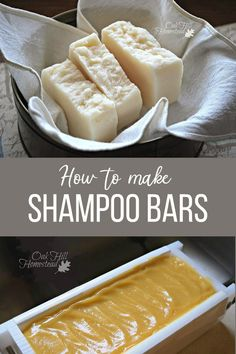 Diy Shampoo, How To Make Shampoo, Shampoo Bar, Camouflage Makeup, Homemade Soap Recipes, Deodorant Recipes, Handmade Soaps, Diy Soaps, Homemade Cosmetics