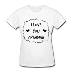 >> Click to Buy << 2017 Red Rose 'I Love You Grandma' Coffee Mug Printed Tee Women  Hipster Unique Customized Casual Dance #Affiliate