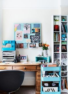 How to decorate a home office | Stylish Work Spaces | Etsy.com - Red Online