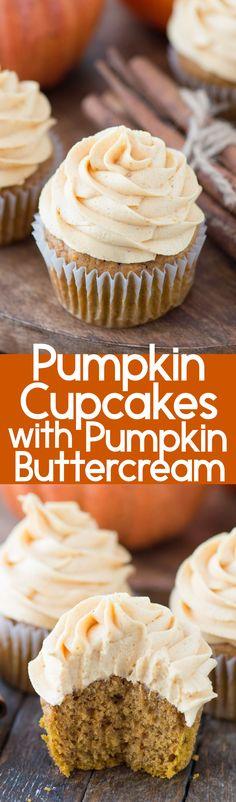 No fail pumpkin cupcakes with pumpkin buttercream! These are the pumpkin cupcakes you'll want to make each fall!