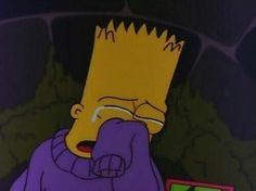 Shared by The Simpsons. Find images and videos about grunge, sad and cry on We Heart It - the app to get lost in what you love. The Simpsons, Simpsons Quotes, Simpsons Meme, Image Triste, Los Simsons, Cute Questions, Gotham, Im Sad, Panic! At The Disco