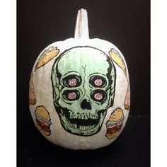 Hand Painted Pumpkin.