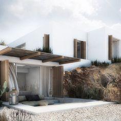 arquitectonico Residence in Mykonos II Mykonos, Exterior Design, Interior And Exterior, Minimal Home, Villa Design, House Goals, My Dream Home, Future House, Interior Architecture
