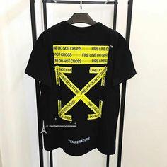 100% original offwhite 18SS tshirt firetape