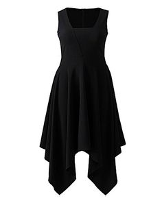 Simply Be Jersey Hanky Hem Dress