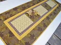 Fall Table Runner  Golden Leaves of Autumn by MoonDanceTextiles, $44.00