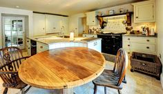 Painted Kitchen with Kashmir White granite tops.