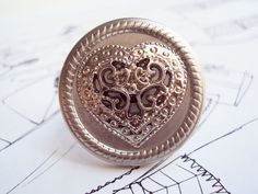Anel Vintage Silver Heart R$27.00