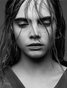 Cara Delevingne poses in black & white for LOVE Magazine