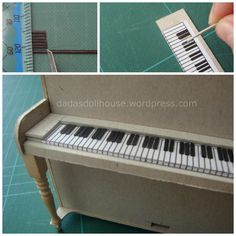 Miniature piano keyboard tutorial