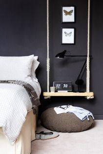 Ideaal als je weinig ruimte hebt voor een nachtkastje. En gewoon leuk natuurlijk!