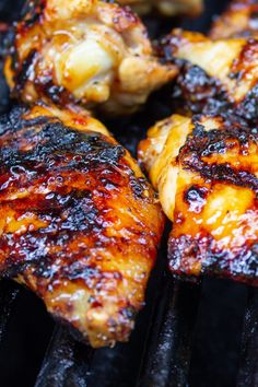 Best Appetizer Recipes, Dinner Party Recipes, Grilling Recipes, Cooking Recipes, Yummy Recipes, Appetizers, Sticky Chicken Wings, Chicken Wings On Grill, Crispy Oven Baked Chicken