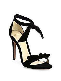 Alexandre Birman - Clarita Velvet Ankle-Tie Sandals