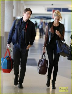 Josh Hartnett & Tamsin Egerton Share Precious Moment at LAX Airport