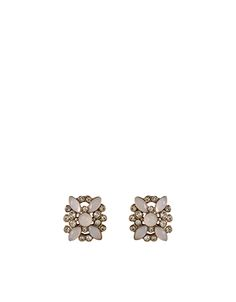 Sparkle Flower Stud Earrings