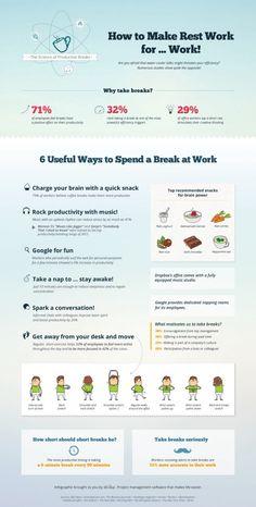 """Cómo sacar partido a los """"breaks"""" durante el trabajo"""